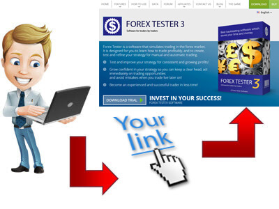 Click on Forex Tester's affiliate link
