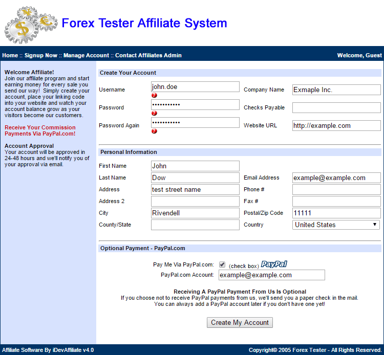 Forex affiliate program reviews