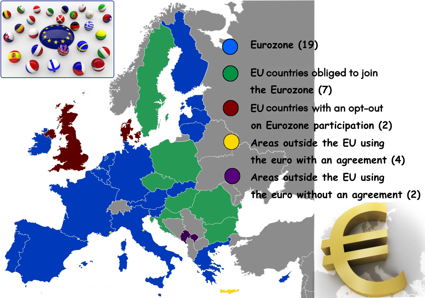 Countries using EUR currency