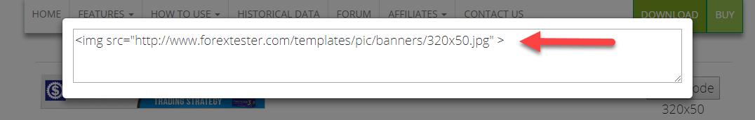 Affiliates banner