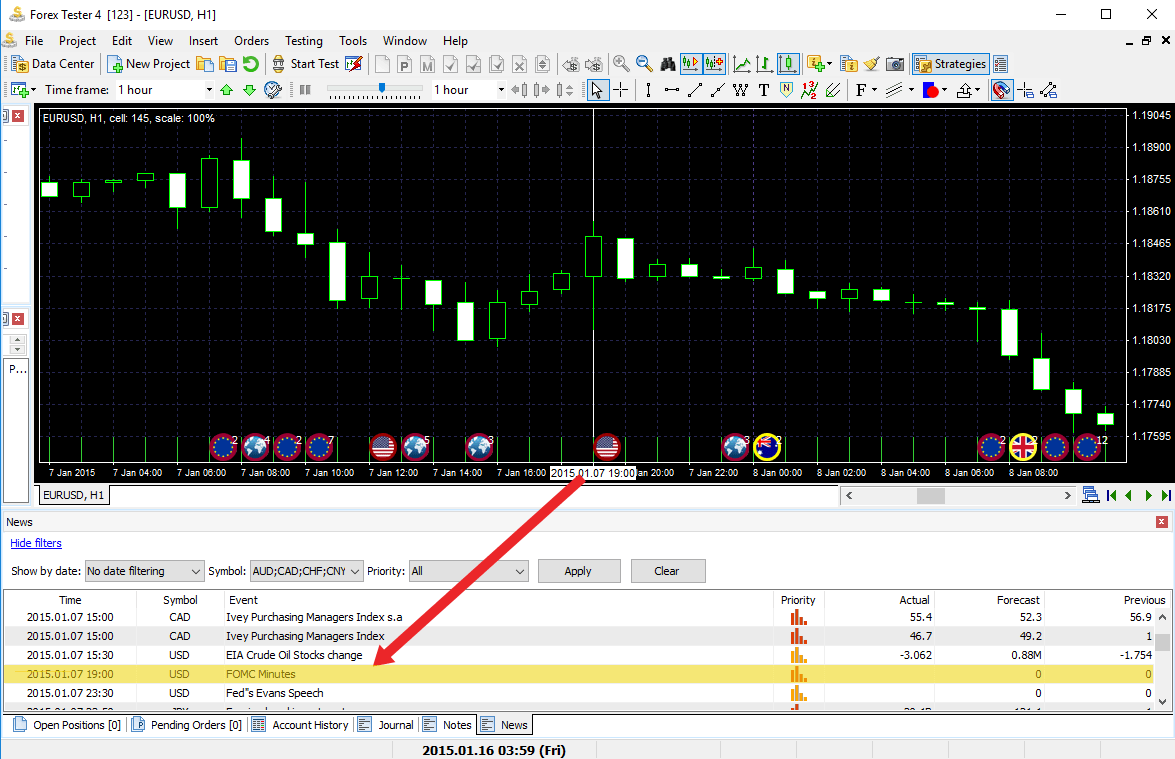 Forex tester not on screen