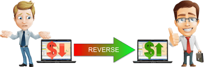 Use reverse mode of the Forex trade copier software