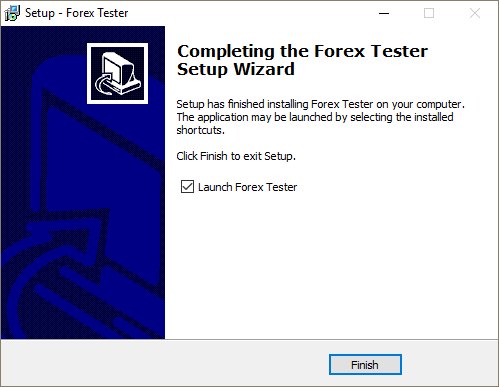 The complete installation of Forex Tester 3