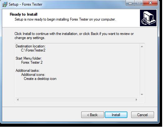 Manual de forex tester
