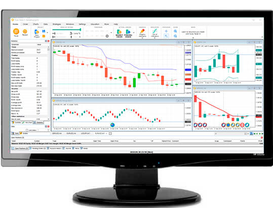 Large list of indicators and oscillators in Forex Tester simulator